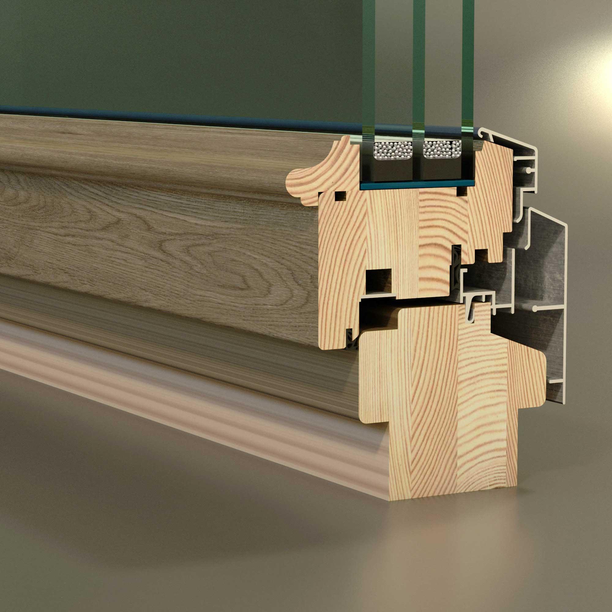 Использование деревянного профиля для окон