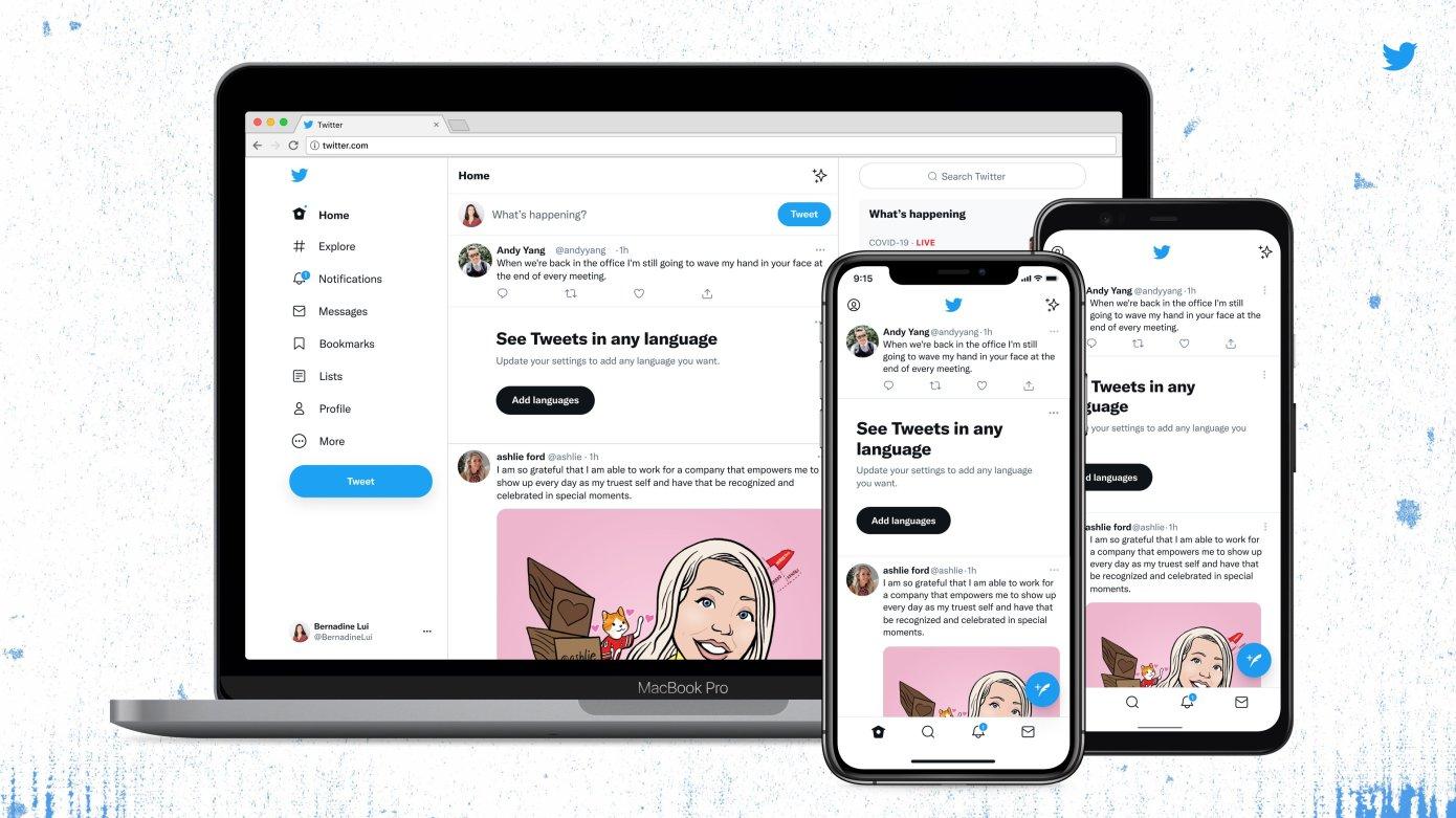 Twitter представил обновленный дизайн сайта и приложений