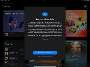 Apple начала запрашивать согласие на показ персонализированной рекламы в iOS 15